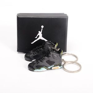 "Jordan 6 Retro ""Brazil World Cup"" 3D Keychain Pair"